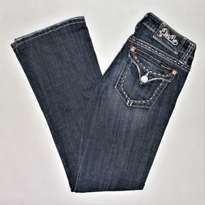Miss Me boot cut denim jeans, size 27